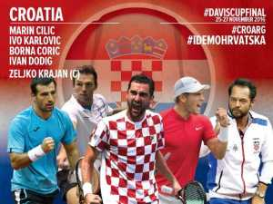 Equipe croate pour la finale de la Coupe davis 2016