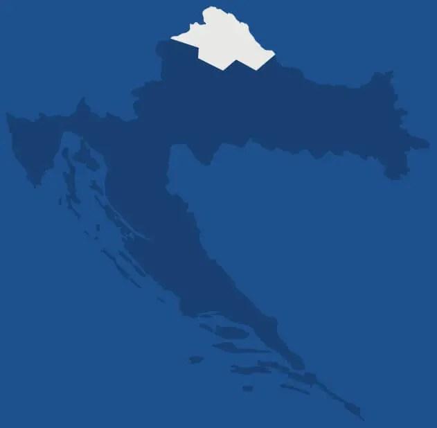 Croatie du Nord, région de Croatie