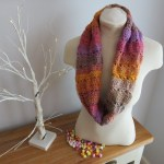 Crochet Cowl pattern named Dolly Mixture Sweetie Crochet Cowl