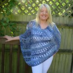 Ocean Kiss Summer Poncho Crochet pattern from Crochet247 featuring Lion Brand Shawl in a Ball
