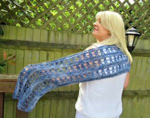 Ocean Kiss Summer Wrap Crochet Pattern from Crochet 24/7
