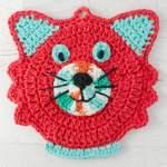 Fun Crochet Cat Potholder Pattern
