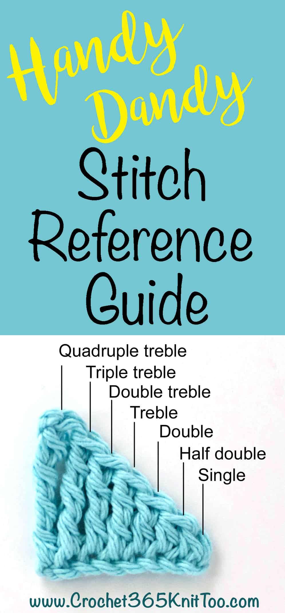 crochet stitch heights