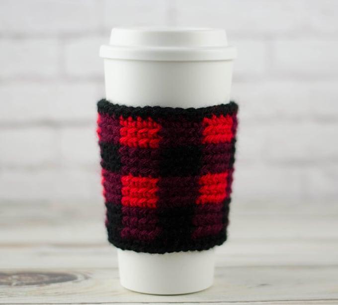 Buffalo Plaid Cup Cozy