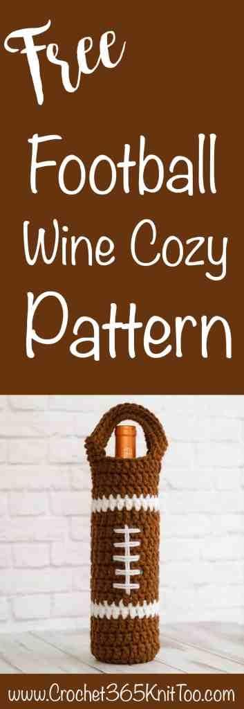 Crochet Football Wine Cozy Pattern
