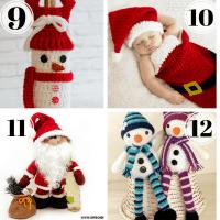 Christmas in July - Part 1:  Best Snowman & Santa Crochet Patterns