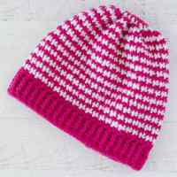 Crochet Houndstooth Hat