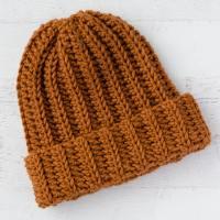 Ribbed Wonder: An Easy Crochet Hat