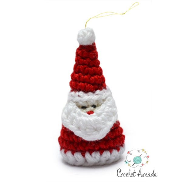 santa christmas ornament crochet pattern