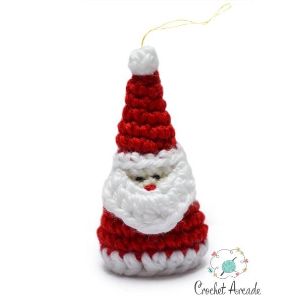 santa christmas ornament crochet pattern