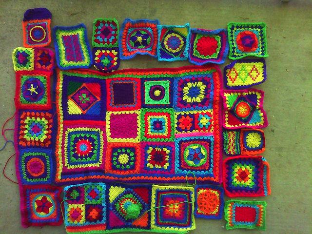 crochet granny square crochet blanket
