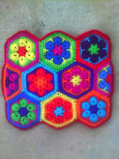 African Flower Power Bag Update Crochetbug