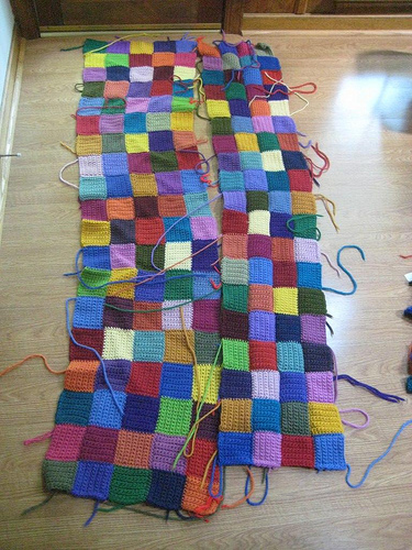 Crochet squares for a crochet rug