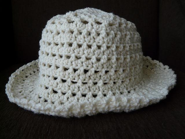 crochet hat side view