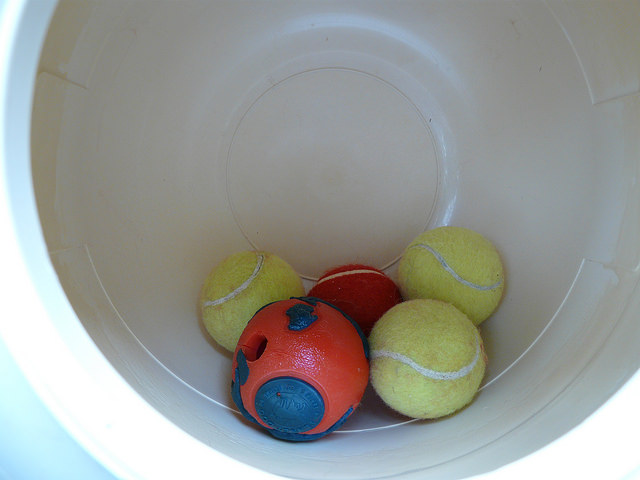 tennis balls to agitate wool