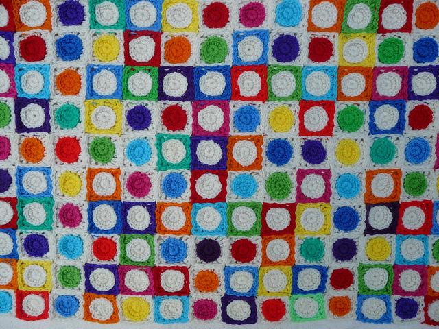 crochet blanket made of crochet squares