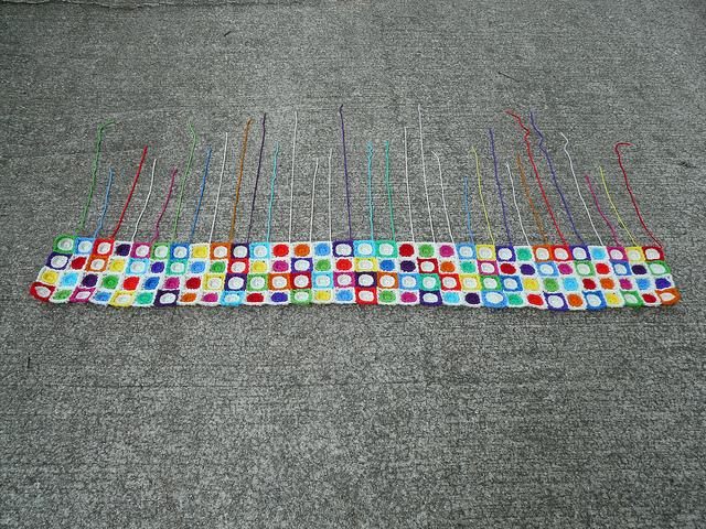 crochet hilbert curve, crochetbug, crochet squares, crochet circles, textured crochet join