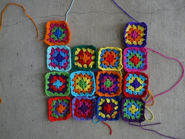 granny squares, crochetbug, crochet squares, granny square dress, crochet dress, multicolor crochet