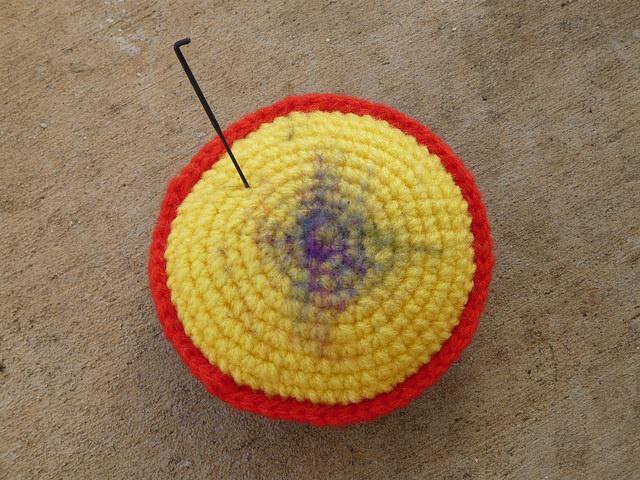 crochetbug, crochet polyfilled pad, crochet tools, crocheted, crocheting