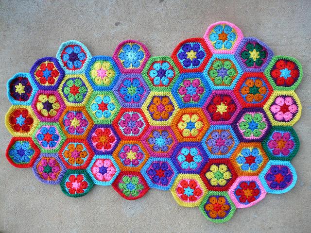 crochet hexagon crochet bag