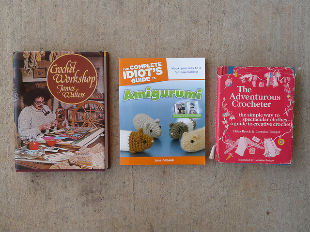 three excellent crochet books