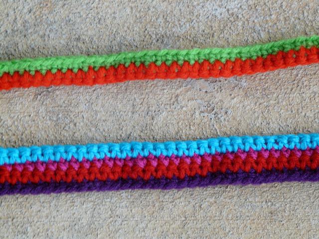 two crochet straps