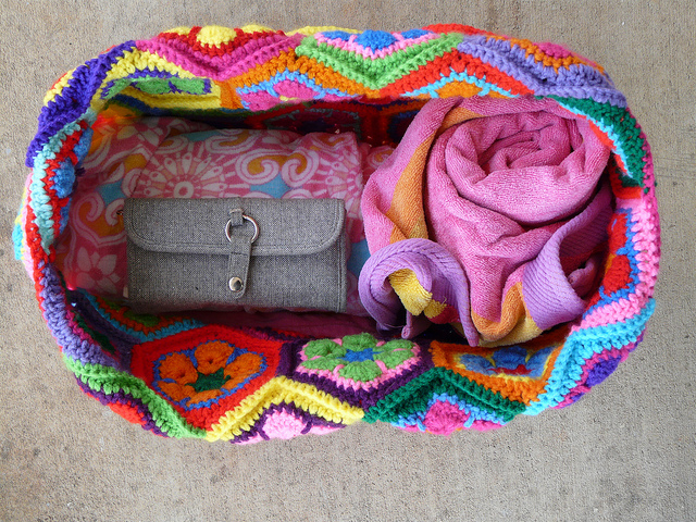 crochet hexagon crochet tote