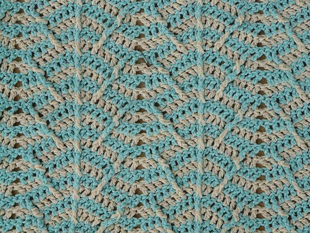 detail crochet ripple pattern