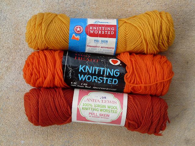 vintage wool yarn