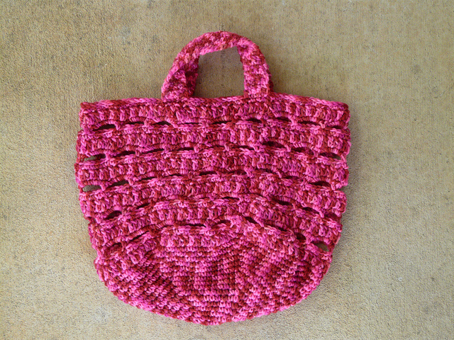 crochet stash basket crochet bag