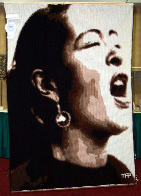 Billie Holiday crochet by numbers
