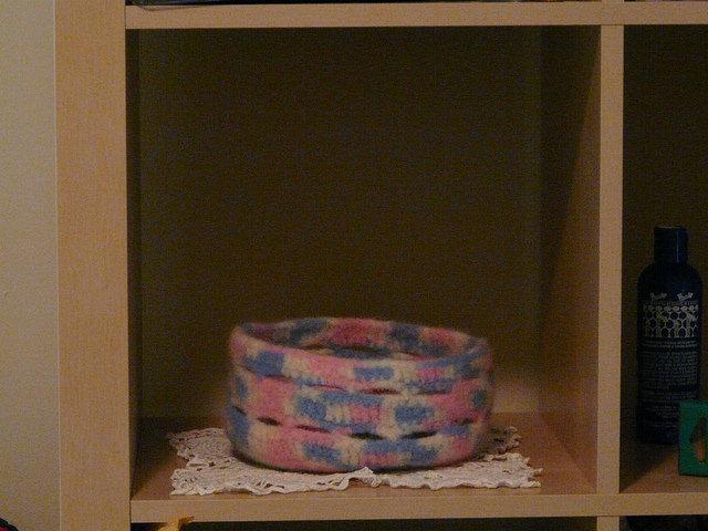 crochetbug, crochet basket, felt crochet basket, crochet storage, crochet organization