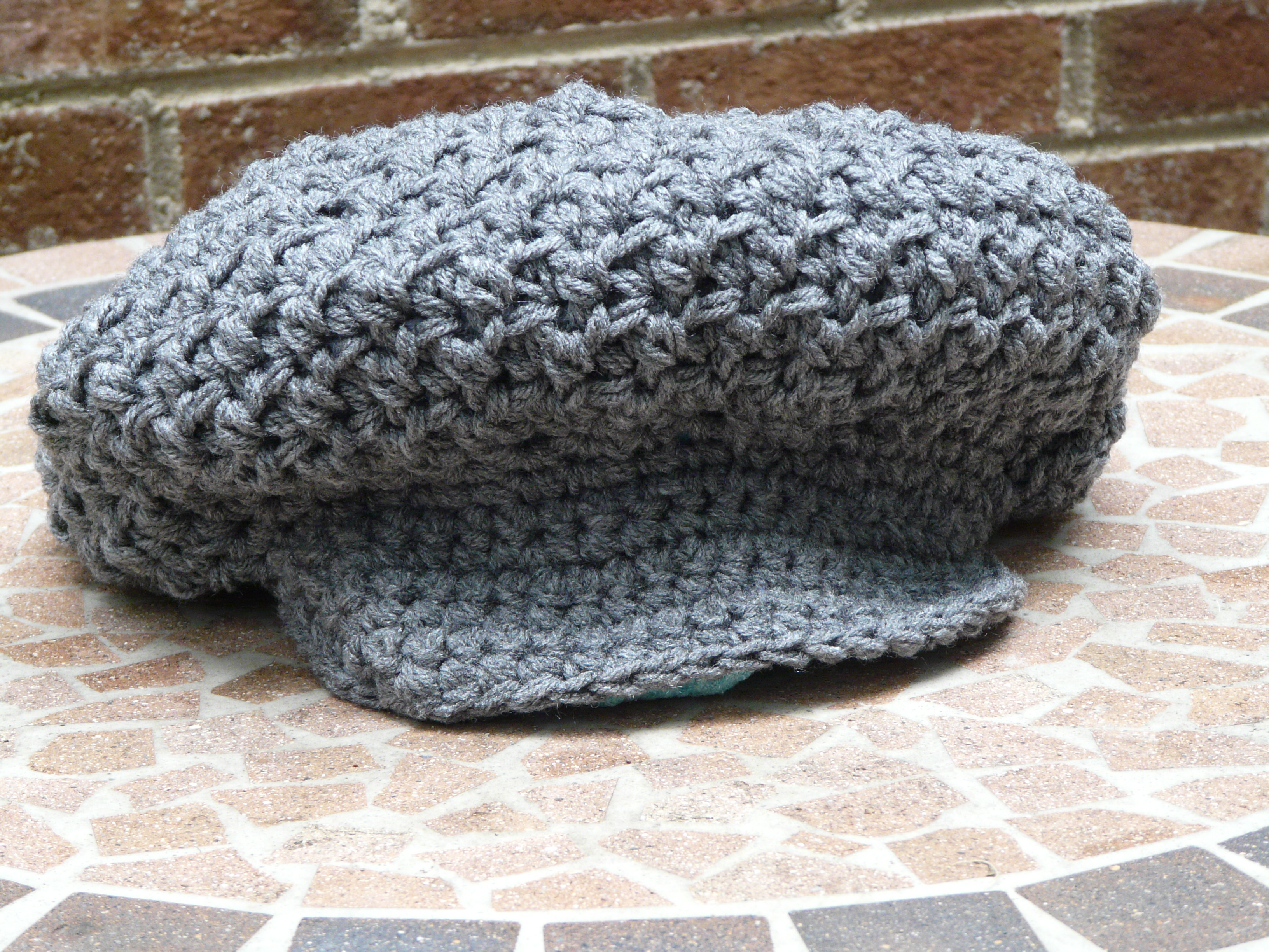 I start work on a crochet ribbed newsboy hat crochetbug crochet nubby brimmed newsboy hat once eileen bankloansurffo Images