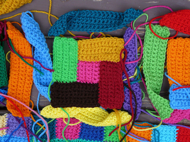 crochet rectangles, crochet squares