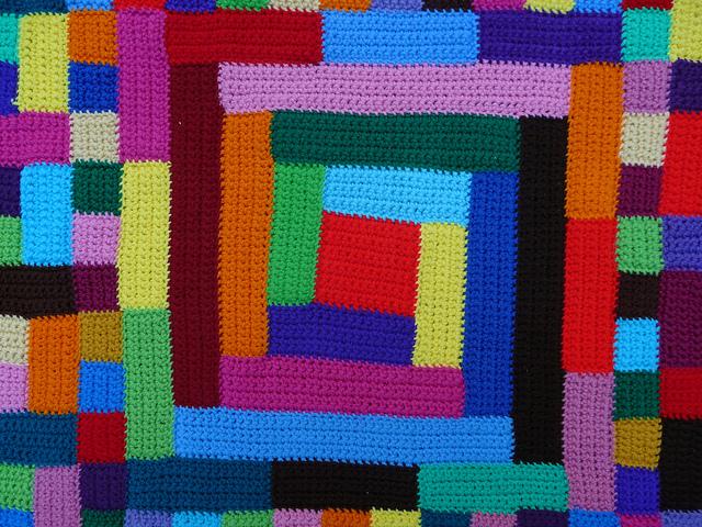 crochet squares, crochet quilt motif, crochetbug