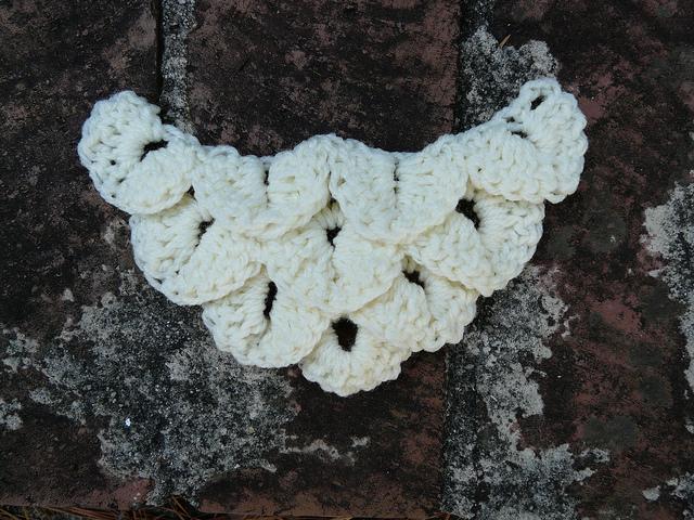 Crochet crocodile stitch swatch