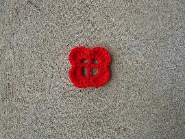 four petal crochet flower