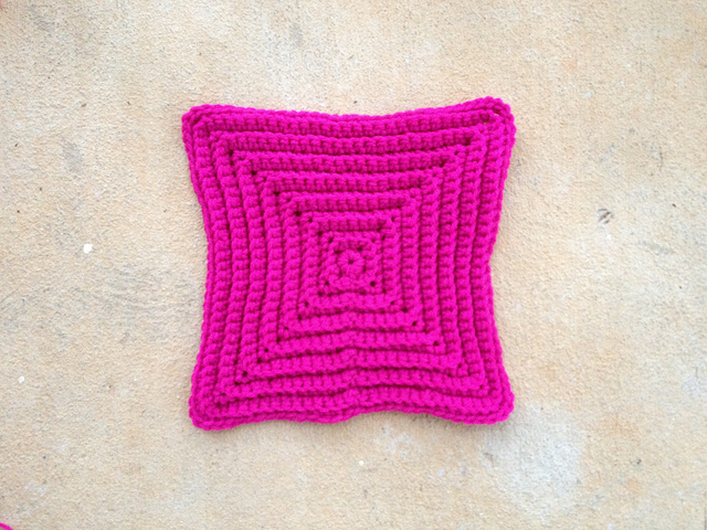 a large textured crochet square