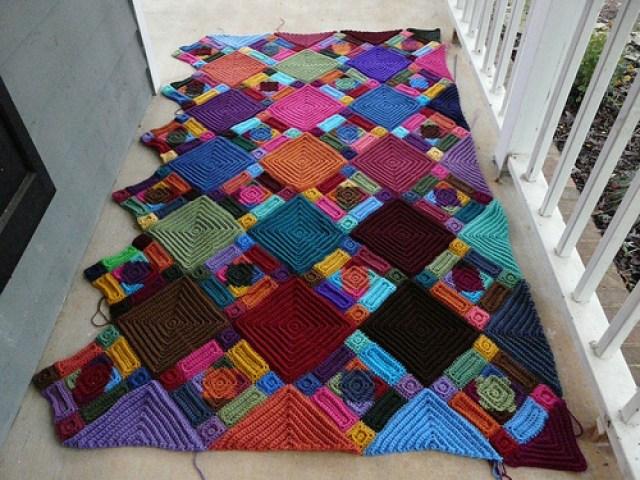 crochetbug, textured crochet squares, textured crochet rectangles, textured crochet triangles, textured crochet blanket, textured crochet afghan
