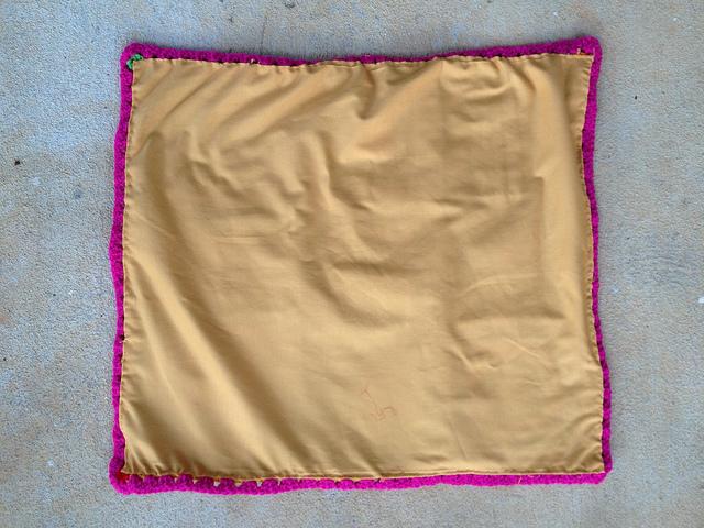 granny square bag lined