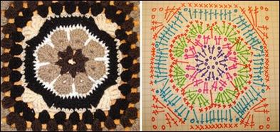 crochet, crochet flower, crochet square, african flower crochet square