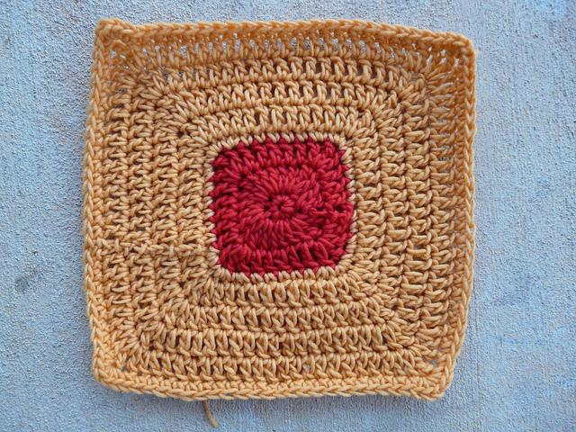 crochetbug, crochet square, josef albers, crochet potholder, felted crochet