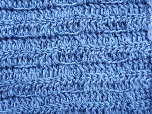 Detail of the stitch for the mariner's scarf