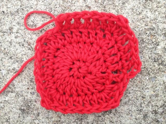 Josef Albers, crochetbug, crochet potholder, crochet pot holder, felted crochet, red, rojo, rouge