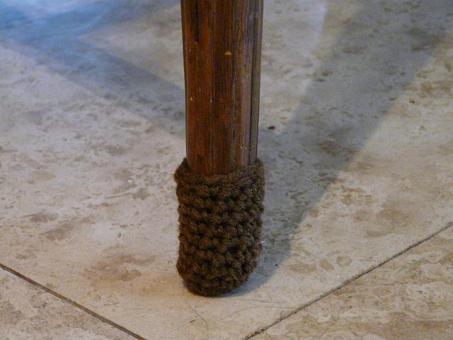 crochet chair leg sock