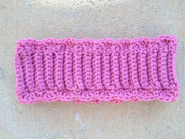pink crochet headband crochet ear warmer