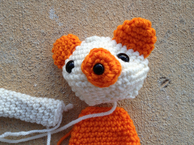 Sherbet the crochet bear