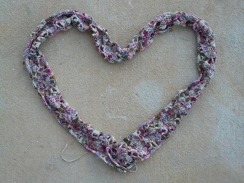 Alice Merlino's Crochet Heart Scarf