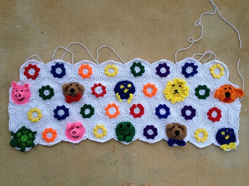 Four rows done, eleven to go!
