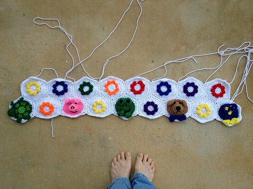 I finish the first two rows of the Project Linus project
